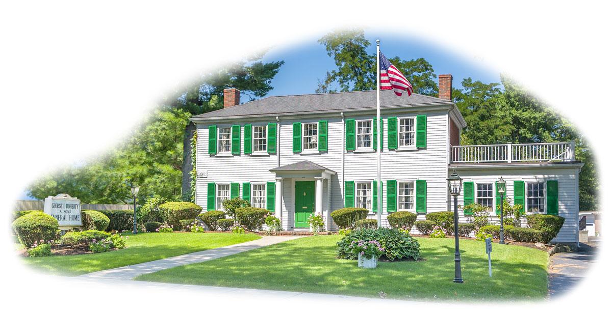 George f doherty sons funeral homes dedham needham for Home builders massachusetts